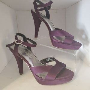 Michelangelo lilah heel deep purple sling back 6.5